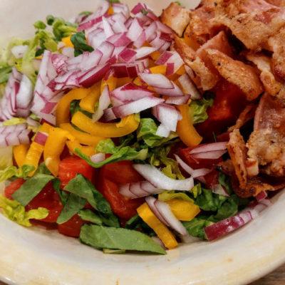 Keto Bacon, Lettuce and Tomato Salad