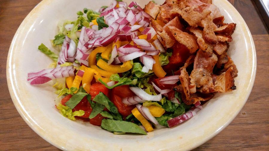 keto bacon lettuce tomato salad